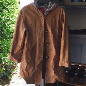 Ladies Cole Haan Leather Paddington Coat